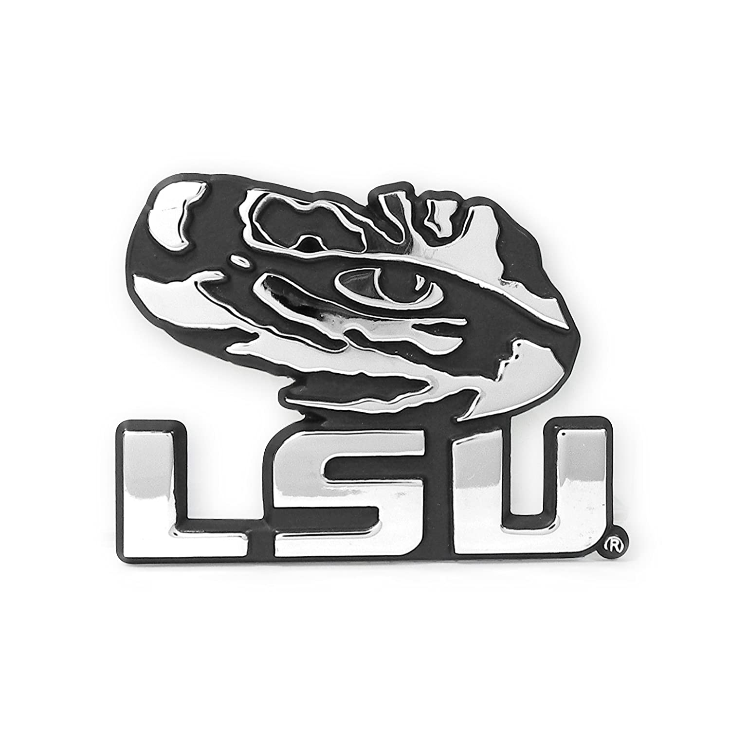 Louisiana State University Chrome Metal Car Emblem Elektroplate