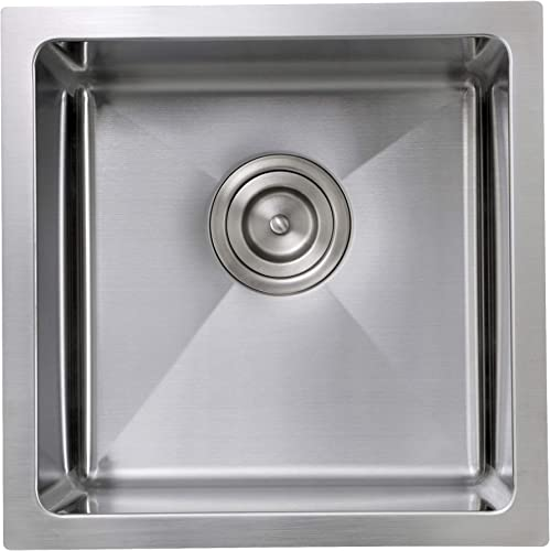 Pro Series 15 x 15 Square Undermount Small Radius Stainless Steel Bar Sink
