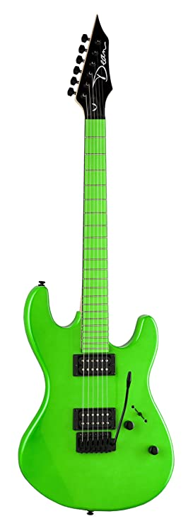 Dean Guitars Custom Zone - Guitarra eléctrica (incluye 2 pastillas Humbucker), color verde