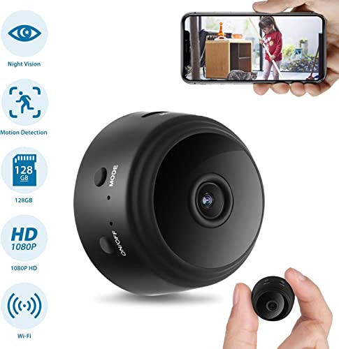Hidden Camera, Home Security WiFi Camera, Super Night Vision 1080P Wireless Surveillance Camera, 150 Wide-Angle Lens, Nanny Cam Activity Detection Alert, Remote Monitor Phone App