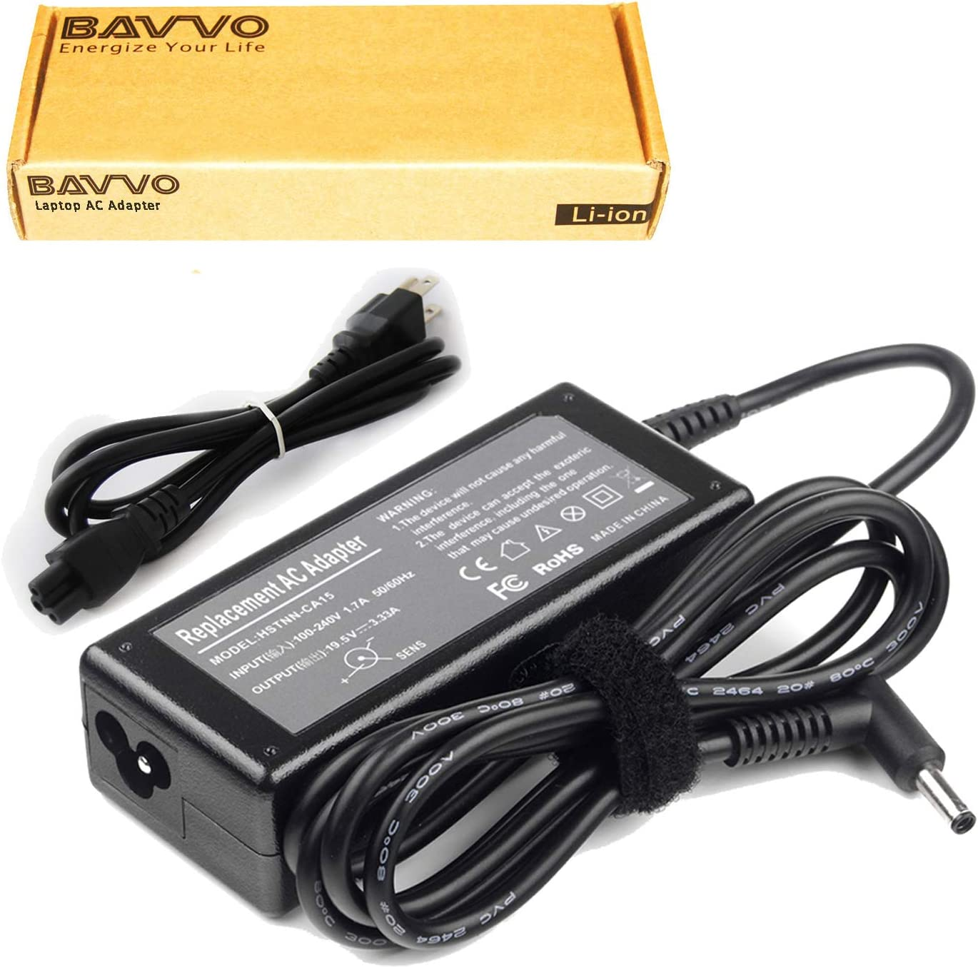 Bavvo 65W Adapter Compatible with HP Envy 14-3010NR A9P67UA