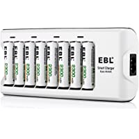 EBL 808A Chargeur de Piles 8 accus AA/AAA Ni-MH/Ni-CD 8 AA 2300mAh Piles Rechargeables