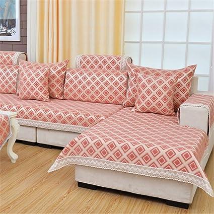 Amazon.com: Chenille Cotton Sofa cover Jacquard Lace Sofa slipcover ...