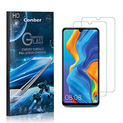 Conber (2 Pack) Screen Protector for Huawei P30 Lite, [Scratch-Resistant][Anti-Shatter][Case Friendly] Premium Tempered Glass Screen Protector for Huawei P30 Lite: Baby
