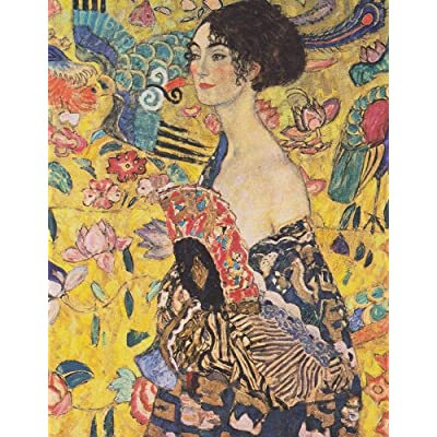DDTOP 1000 Pieces Puzzles for Adults - Difficult Gustav Klimt Famous Oil Painting-Woman with Fan Jigsaw Puzzle - Challenge Yourself with Unique Premium Puzzle: Toys & Games