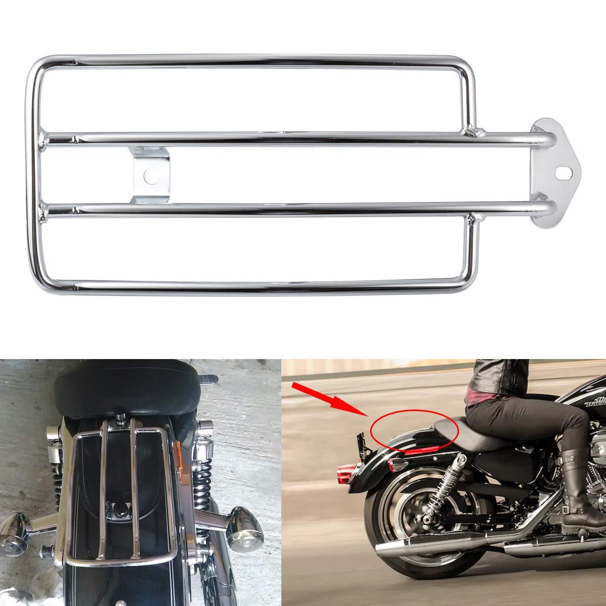 2003 TUINCYN Support de Porte-Bagages pour Moto pour si/ège arri/ère Solo Argent/é Compatible avec Harley Davidson XL Sportster 1985