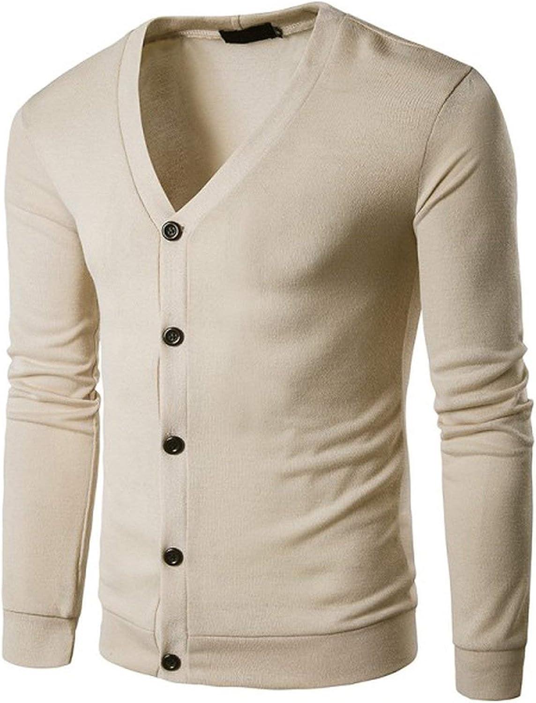 : V Collar Cardigan Men Thin Knitted Sweater Coat