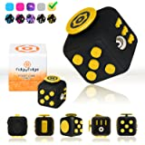 Fidget Cube by FidgyFidge | Anti-Stress Cube, Anxiety Toy, ADHD Fidget Toy for Better Focus and Stress Relief (Yellow)