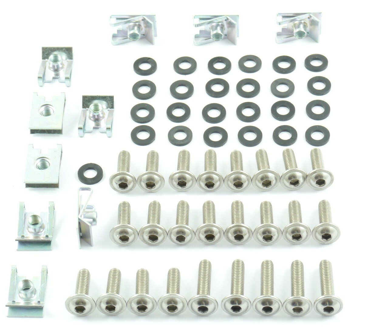 Tech-Parts-Koeln Motorrad Verkleidungsschrauben Klemmen//Clips M6 Schrauben 6mm Set 60 Teile