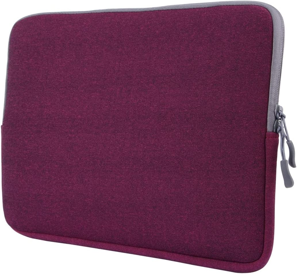 DESHENG Tablet Protective Clips for MacBook Air 11.6 inch & MacBook 12 inch Universal Laptop Bag Soft Portable Package Pouch Tablet PC Bag (Color : Purple)
