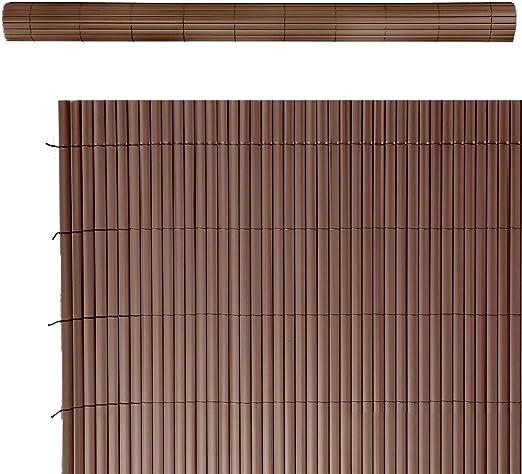 Cañizo Artificial de ocultación para jardín de PVC marrón - LOLAhome: Amazon.es: Jardín