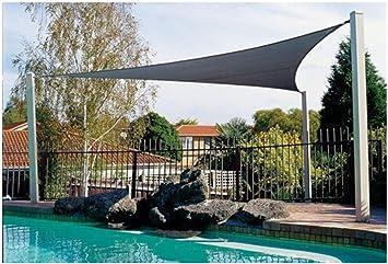 WEB world electronic business - Toldo Triangular 3, 6 x 3, 6 x 3, 6 m, Color Gris: Amazon.es: Jardín