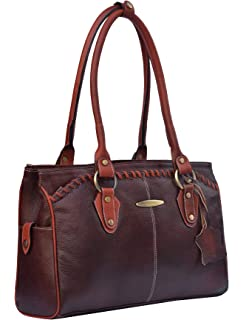 d42086694895 GenWayne Multipurpose leather handbags for ladies cum shoulder bag (pure  leather bag) (Brown