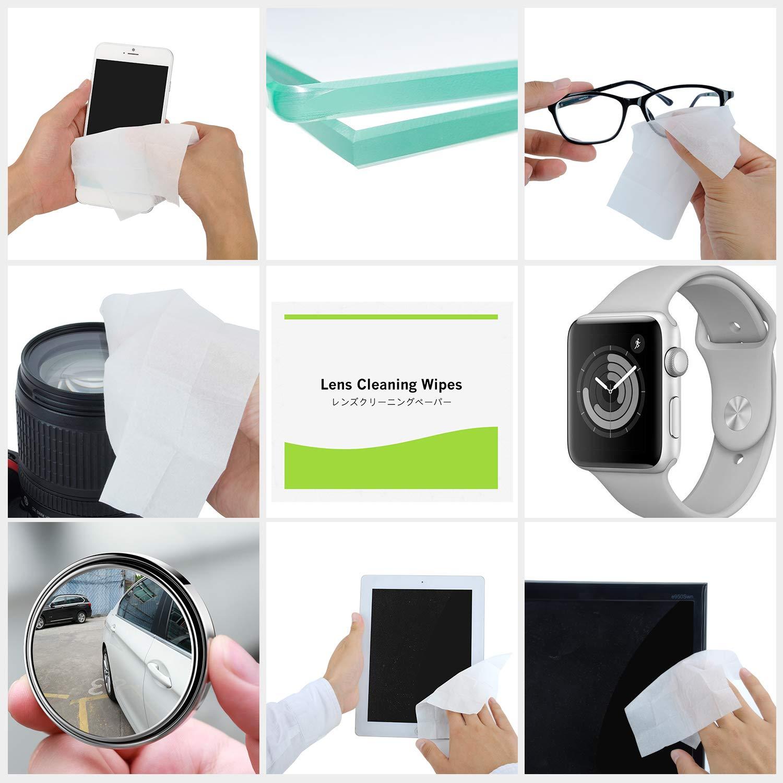 EOTW Toallitas Limpiadoras Gafas, 120 Unidades Prehumedecidas Limpia Gafas para iPad/Tabletas/Smartphone/Pantallas de Ordenador/Gafas de Sol/LCD/Lente de la ...