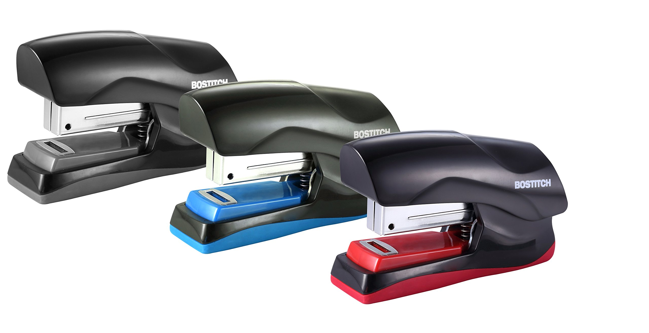 Bostitch Office Heavy Duty 40 Sheet Stapler, Small Stapler Size, Fits into The Palm of Your Hand; Assorted - No Color Choice, One per Order (B175-ASST)