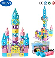 Magblock Magnetic Building Blocks STEM Educational Toys Tiles Set for Boys & Girls Magnet Stacking Block Sets for Kid's Basic