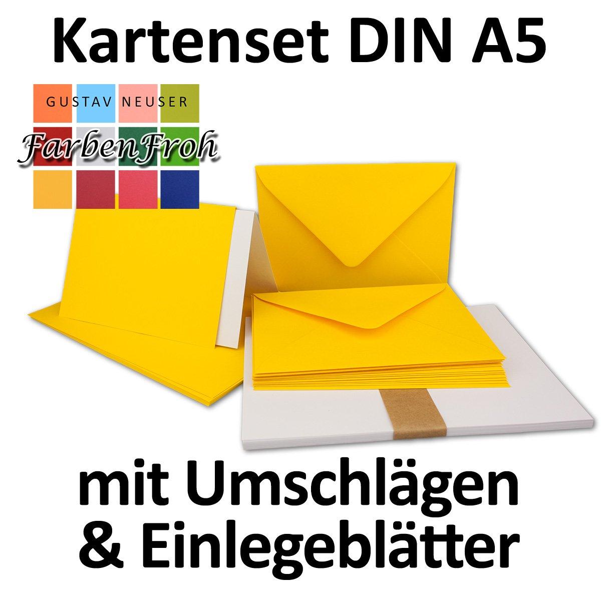 150 Sets - - - Faltkarten Hellgrau - DIN A5  Umschläge  Einlegeblätter DIN C5 - PREMIUM QUALITÄT - sehr formstabil - Qualitätsmarke  NEUSER FarbenFroh B07C32SKVF Kartenkartons Adoptieren a7f7a0