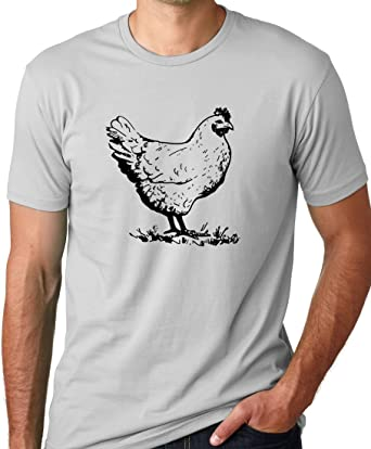 95e500c7adf Amazon.com  Think Out Loud Apparel Chicken Funny T-shirt  Clothing