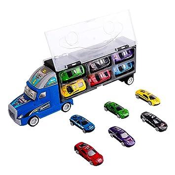 Jouet De Camion De Transporteur Transporteur De Voiture Avec 12