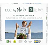 Eco by Naty, Size 3, 180 Diapers, 9-20 lbs, ONE MONTH supply, Plant-based premium ecological diaper with 0% oil plastic…