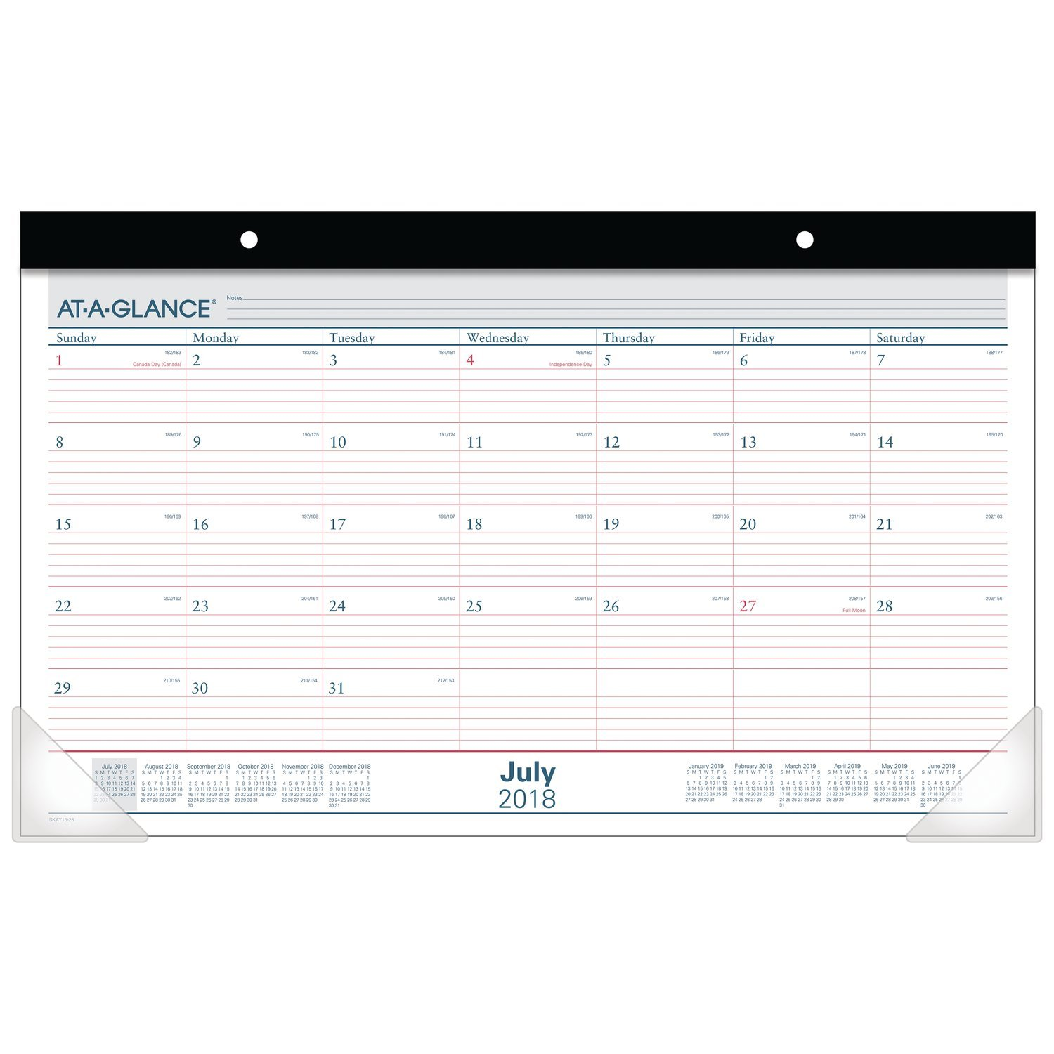 AT-A-GLANCE 2018-2019 Academic Year Desk Pad Calendar, Compact, 17-3/4 x 10-7/8, Compact (SKAY1528)