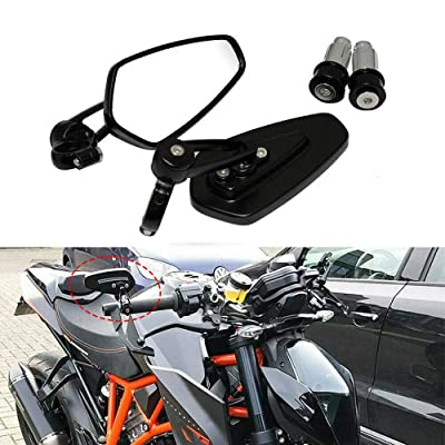 "7/8"" Motorcycle Handle Bar End Mirrors Side Mirrors for KTM Duke 790 690 390 125: Automotive"