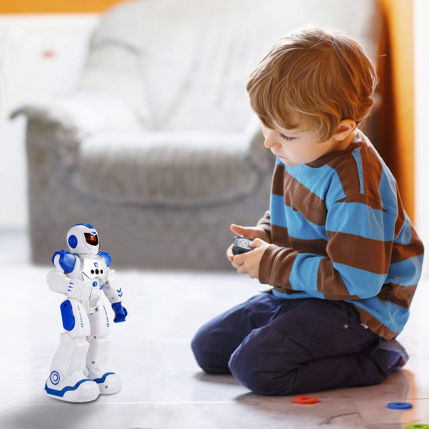 Elemusi Remote Wireless Control Robot for Kids Toys,Smart Robots with Singing,Dancing,Gesture Sensing Entertainment Robotics for Children (Blue) by Elemusi (Image #7)