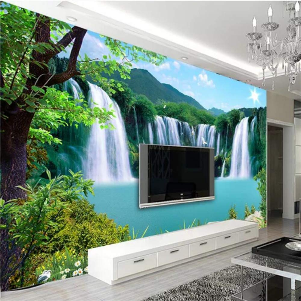 SQBZOP Custom 3D wallpaper grande sala de estar dormitorio cascada ...