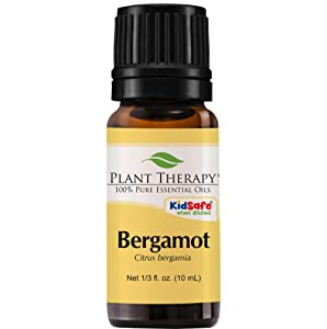 Plant Therapy Bergamot Essential Oil 100% Pure, Undiluted, Natural Aromatherapy, Therapeutic Grade 10 mL (1/3 oz)