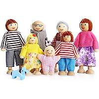 Playtee Muñecas de Familia con Muebles de Casa