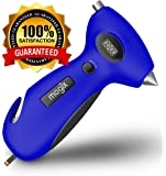 Mogix Digital Tire Pressure Gauge Safety 5in1 Survival Tool - Auto Rescue Window Breaker, Seat Belt Cutter, Flashlight and Tire Tread Meter (Blue)
