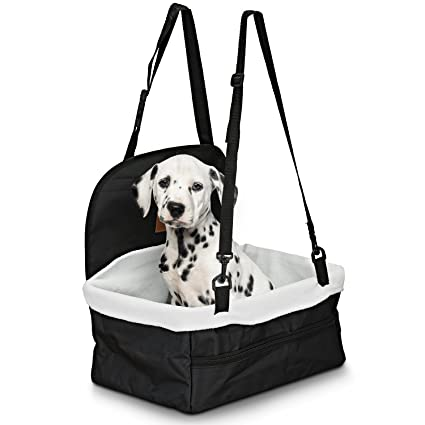 Pet Car Booster Seat Dog Ride Includes Safety Leash And Zipper Storage Pocket By