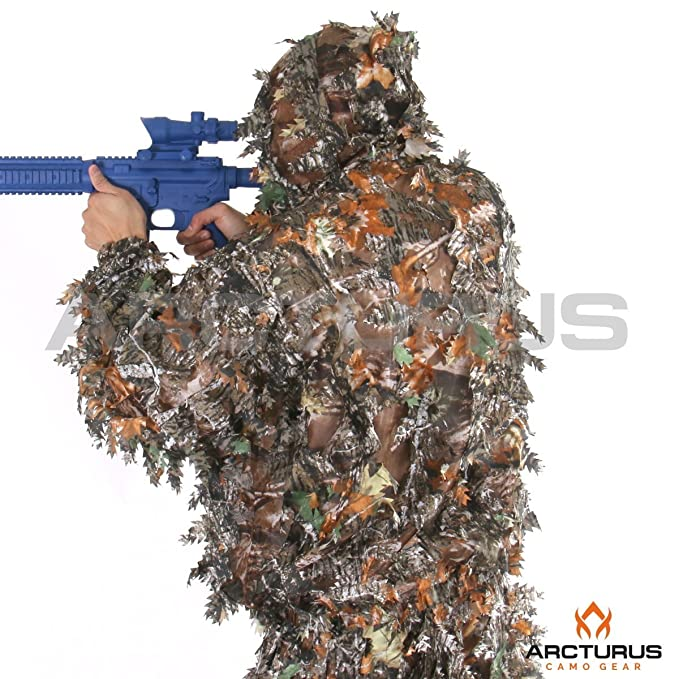 380df68a280ec Amazon.com   Arcturus 3D Leaf Ghillie Suit - Superior Full-Suit Lightweight  Leafy Camouflage for Hunting