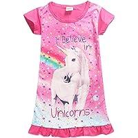Girls Unicorn Nightgown Sleep Shirts Printed Star Rainbow Nightshirt Casual  Nightie Princess Night Dresses a32a661c0