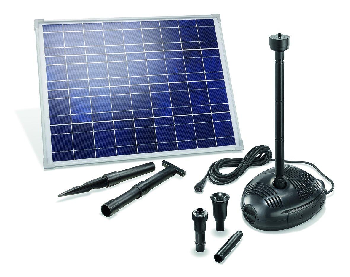 Solar Teichpumpensystem Genova mit 3 verschiedenen Sprinkleraufsätzen, 101723