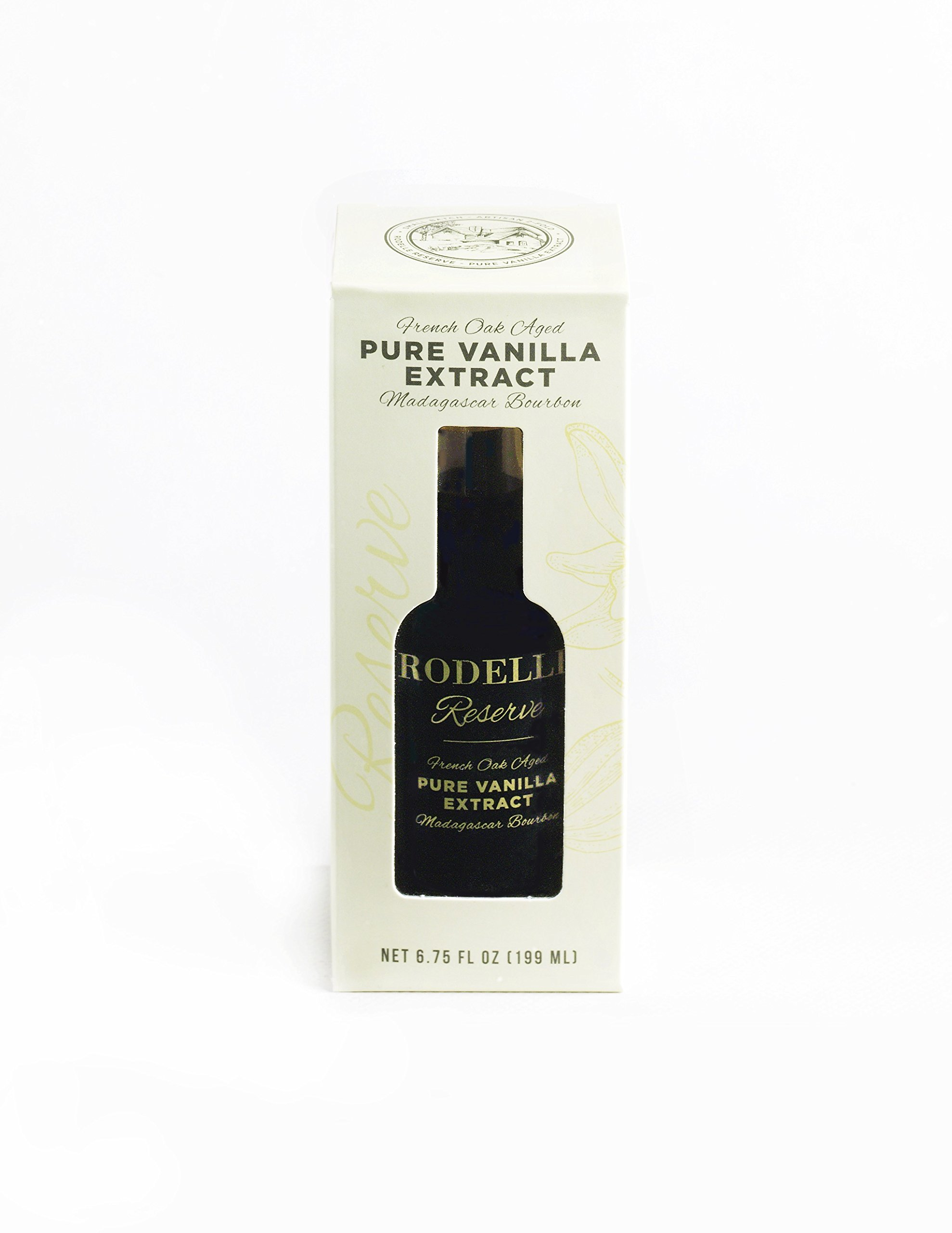Rodelle Reserve Pure Vanilla Extract, 6.75 Oz, Madagascar Bourbon, Double Fold, Aged in French Oak, Contains Gourmet Vanilla Bean, Gift Box Included by Rodelle (Image #3)