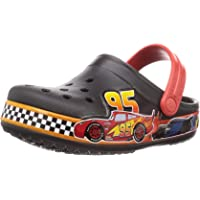 Crocs Unisex-Child Fun Lab Disney and Pixar Cars Band Clog | Slip on Water Shoes for Boys, Girls, Toddlers