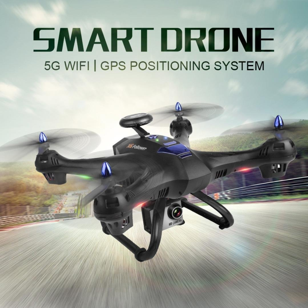 Gbell X183S 5G Drone with 1080P HD Camera WiFi FPV 6-Axis Gyro GPS Drone LED Follow Me - Large RC Quadcopter - Best Birthday New Year Gifts for Boys Girls Kids Adults,Black White (Black) by Gbell (Image #2)