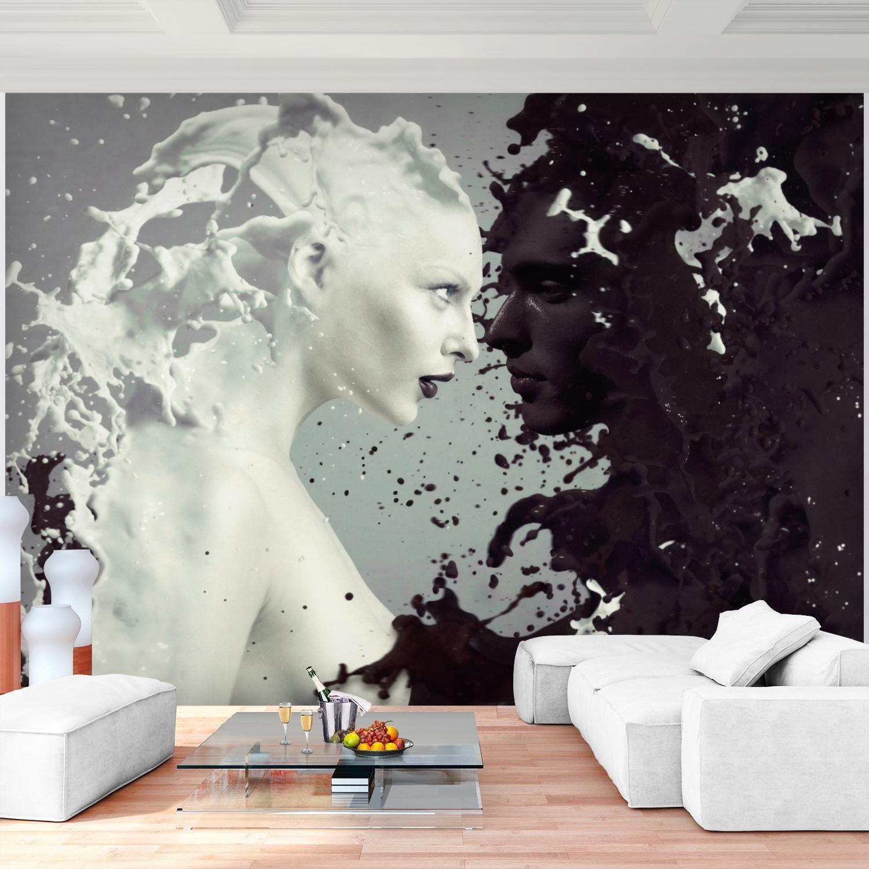 Fototapeten Milk U0026 Coffee Schwarz Weiß 352 X 250 Cm Vlies Wand Tapete  Wohnzimmer Schlafzimmer Büro Flur Dekoration Wandbilder XXL Moderne  Wanddeko   100% ...