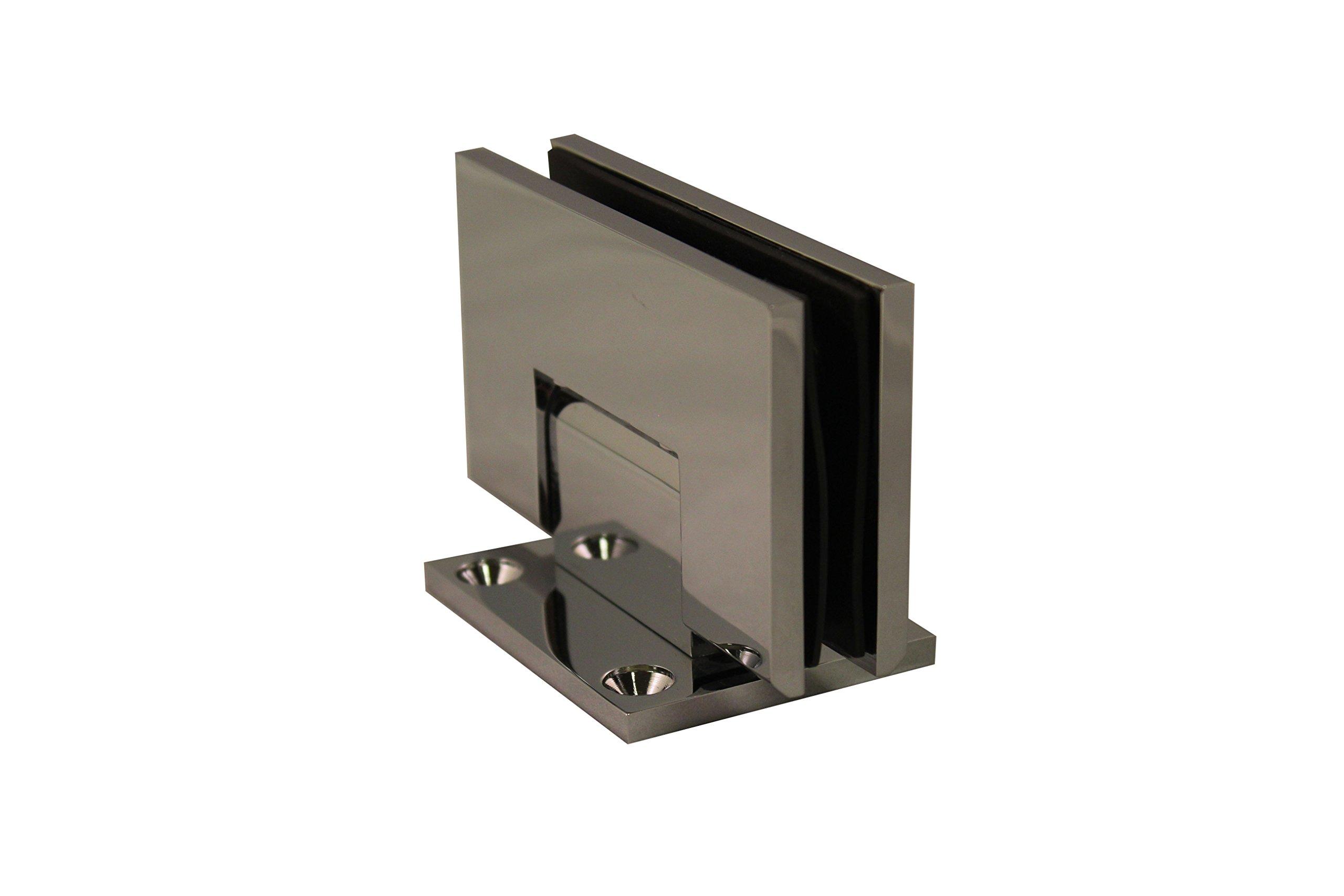 WBS 'Atlantic' Heavy Duty / Heavy Glass Shower Door Hinge Pair (Chrome) by Wardrobe and Bath Specialties