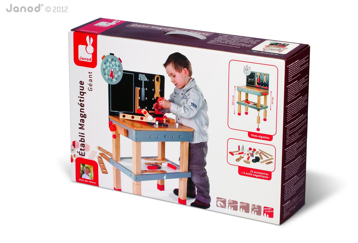 Janod Giant Magnetic Workbench Playset
