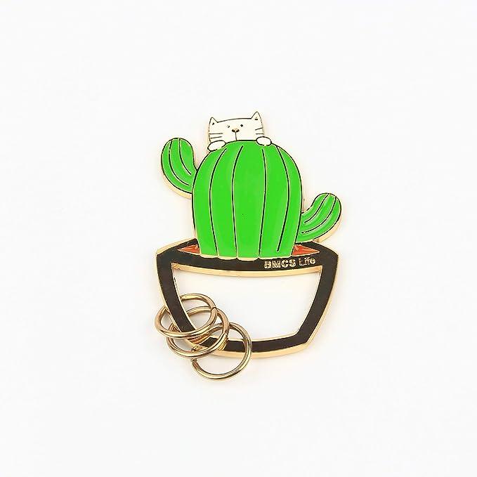 Amazon.com: Gato en el/Cactus/helado/verduras cesta llavero ...