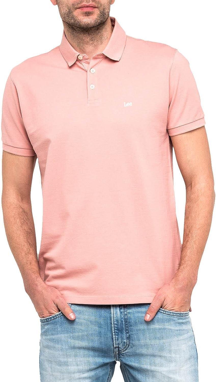 Lee Polo L62XRLEA Plain Pique Polo Faded Pink: Amazon.es: Ropa y ...