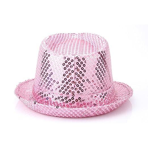 d73d8c112 Q&Y YQ Unisex Sequin Trilby Fedora Hats Sparkle Glitter Size L ...