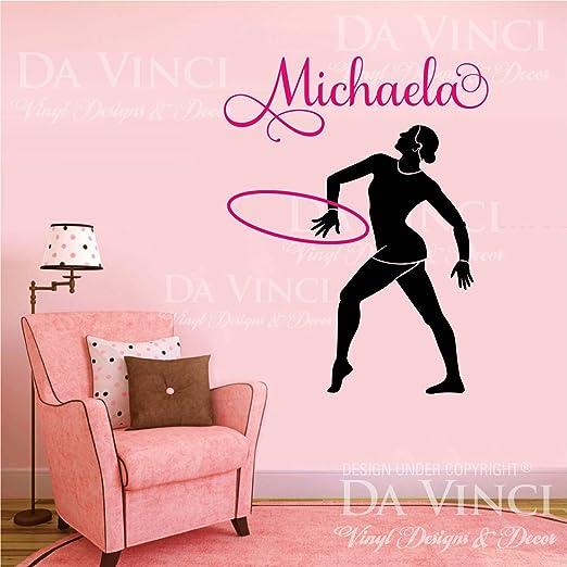 Gymnast Gymnastics Custom Personalized Name Wall Decal Vinyl Sticker Room A