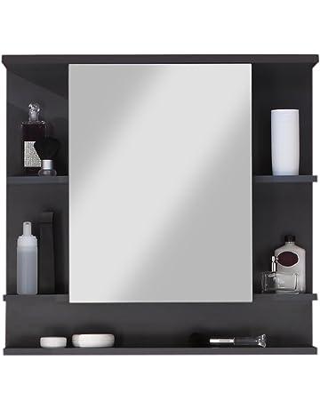 Armoires De Salle De Bain Avec Miroir Amazon Fr