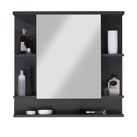 trendteam smart living badezimmer spiegelschrank spiegel tetis 72 x 76 x 20 cm in korpus