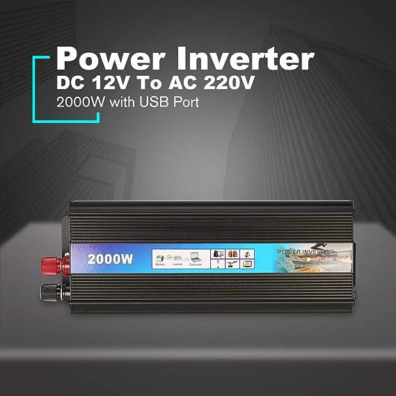 HONZIRY 2000W Power Inverter Auto DC 12V A CA 220V Adaptador de ...