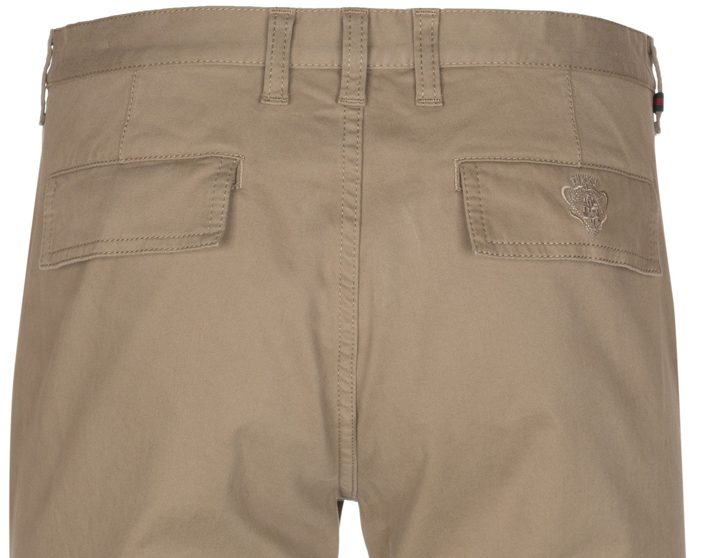 Gucci Men's Softened Stretch Cotton Short Chino Casual Pants, Beige, 28 by Gucci (Image #8)