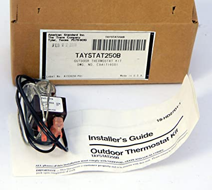 Amazon.com : Trane American Standard outdoor thermostat kit ... on american standard transformer, american srandard thermostat wiring diagram, american standard thermostat cover, american standard thermostat acont802as32daa, american standard water heater thermostat, american standard thermostat reset, american standard thermostat battery, american standard blower relay, american standard thermostat manuals, american standard thermostat installation, american standard thermostat parts, american standard thermostat programming, american standard thermostat control, american standard heat pump thermostat, american standard thermocouple, american standard heating, american standard programmable thermostat,